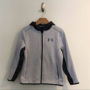 Under Armour Coldgear Gray Black Hoodie Jacker S